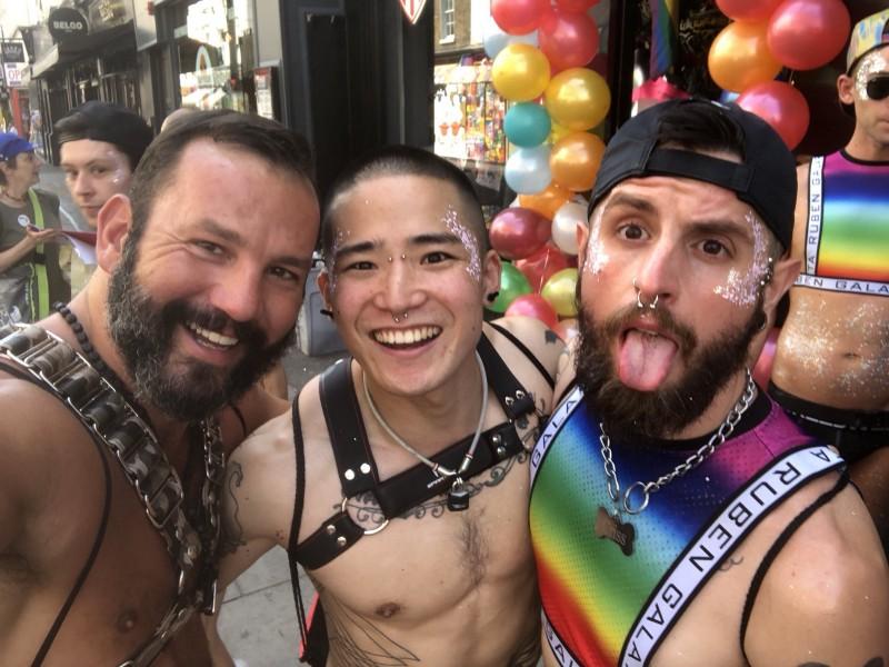Yoshi Kawasaki and friends at Pride in London 2018 (image supplied)