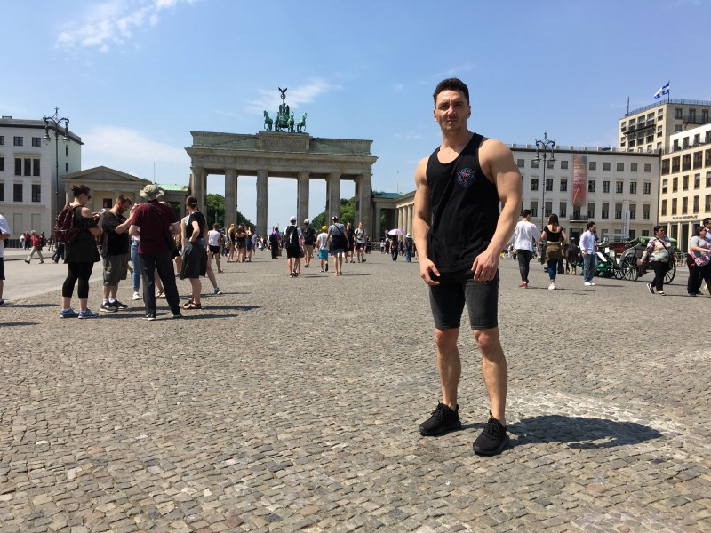 Liviu at the Brandenburg Gate—Berlin, Germany. Photo: Gareth Johnson