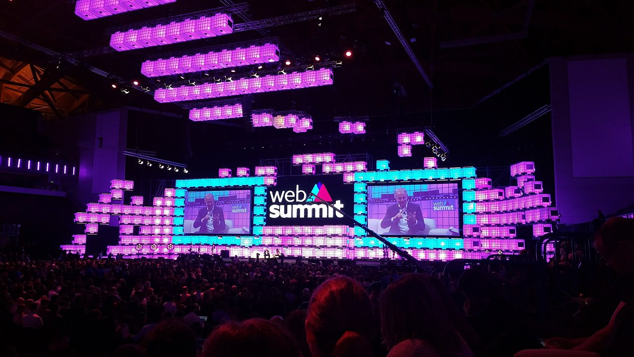 Center stage of web summit Lisbon 2018