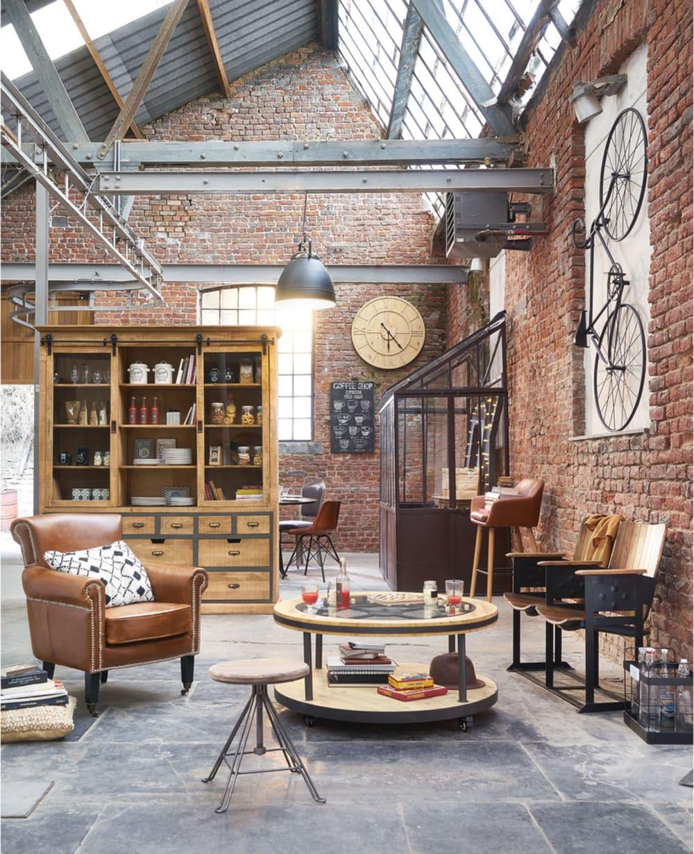 demi serre en m tal effet rouille h 245 cm tuileries maisons du monde. Black Bedroom Furniture Sets. Home Design Ideas