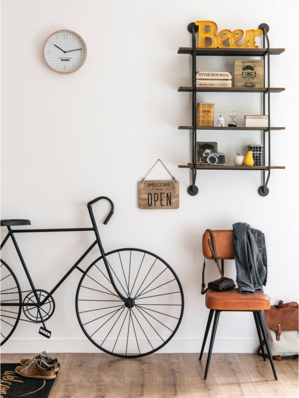 d co murale v lo en m tal noir urban fixie. Black Bedroom Furniture Sets. Home Design Ideas