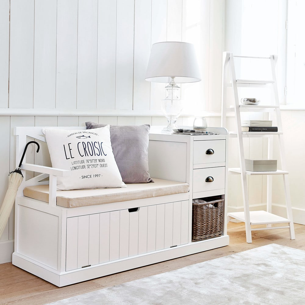 meuble d 39 entr e blanc freeport maisons du monde. Black Bedroom Furniture Sets. Home Design Ideas