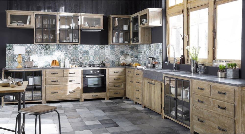 Credenza Da Cucina Maison Du Monde : Küchenunterschrank aus recyceltem kiefernholz mit spüle copenhague