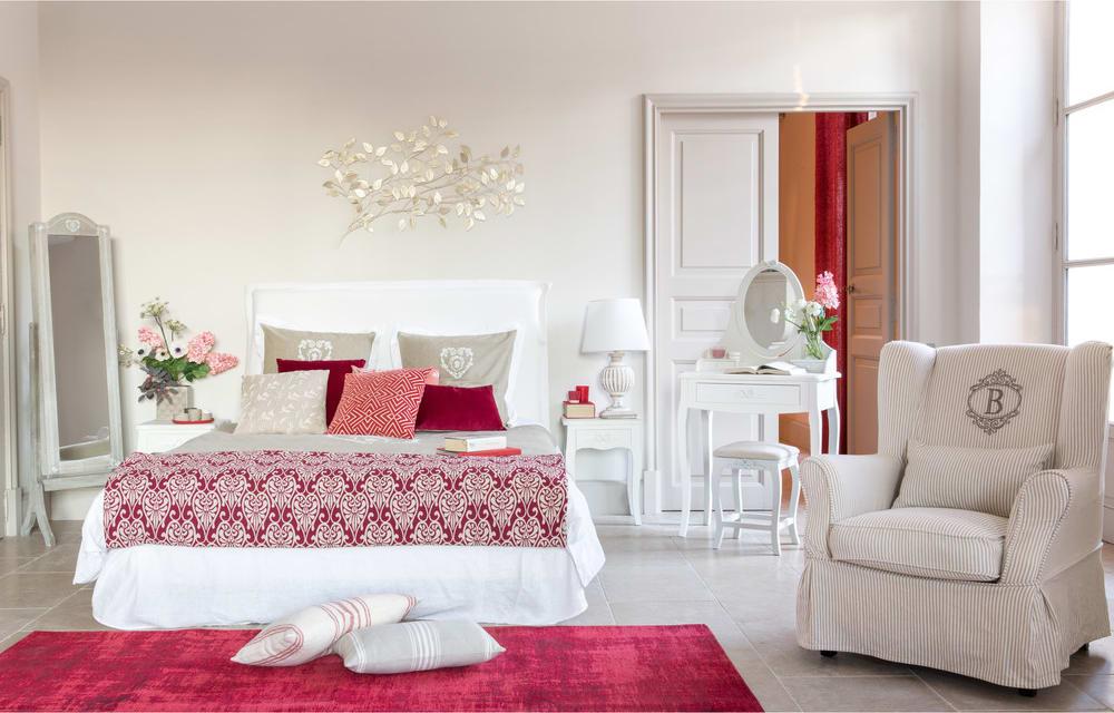 Housse de fauteuil en coton motifs rayures 80x98 barbade maisons