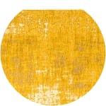 Alfombra amarillo mostaza con motivos jacquard 200x290