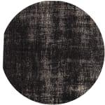 Alfombra negra de algodón 200× 290cm FEEL