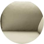 Putty-coloured cotton modular sofa bed right armrest