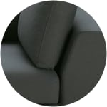 Slate grey cotton modular sofa bed right armrest