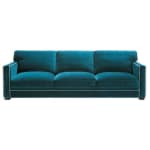 4/5 seater velvet sofa in blue