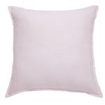 Kissen aus rosa gewaschenem Leinen 60x60