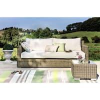 3 seater wicker garden sofa St Raphaël