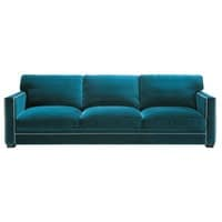 4/5 seater velvet sofa in blue Dandy