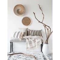 Alfombra bereber de lana y algodón crudo/negro 140x200 cm Mounia