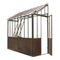 Anlehngewächshaus aus Metall mit Rosteffekt, H 245cm Tuileries Tuileries