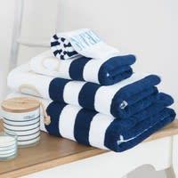 Asciugamano blu in cotone 30 x 50 cm Océan