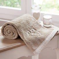 Asciugamano da toilette beige in cotone 30 x 50 cm Camille