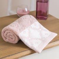 Asciugamano in cotone a motivi grafici, 30x50