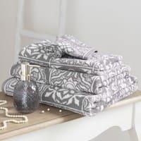 Asciugamano in cotone a motivi piastrelle, 70x140