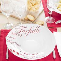 Assiette creuse en porcelaine rouge D 30 cm Pasta