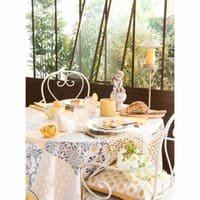 Assiette plate en faïence blanche D 27 cm Bourgeoisie