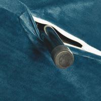 Banquette convertible 2 places en velours bleu pétrole Nio