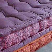 Banquette d'angle modulable 6 places en coton Madurai