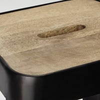 Barhocker im Industrial-Stil aus Mangoholz und Metall Manufacture