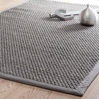 sisal woven rug in grey 200 x 300 cm Bastide