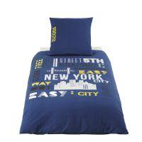 Baumwollbettwäsche für Kinder, grau 140x200 New York