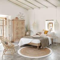 Bett aus massivem geschnitztem Mangoholz, 160x200 Meeko
