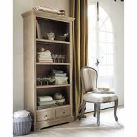Bibliothèque en bois de paulownia grise L 85 cm Cavaillon