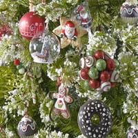 Bola De Navidad De Cristal Con Motivos De Copos Y Bambi Bajo El - Motivos-navidad