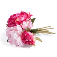 Bouquet de pivoines artificielles roses H 25 cm Gladys