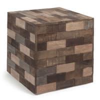 Bout de canapé cube multicolore L 41 cm Praja