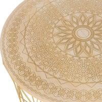 Bout de canapé filaire en métal doré Mandala