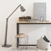 Bout de canapé filaire en métal gris Zigzag