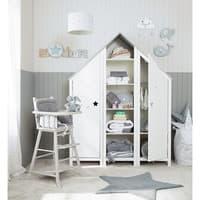 Bücherregal Haus aus Holz, B 45cm, weiß Songe