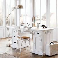 Bureau 1 porte 4 tiroirs blanc Newport