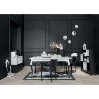 Cabinet de rangement déstructuré noir et blanc Chantal Thomass