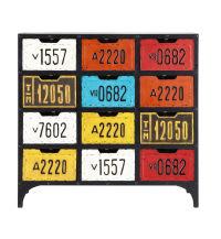 Cabinet de rangement indus multicolore Road