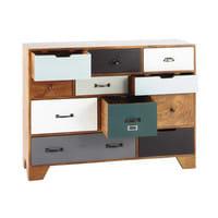 Cabinet de rangement vintage en manguier massif L 114 cm Picadilly