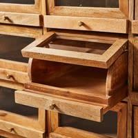 Cabinet indus 18 casiers en manguier massif Terry