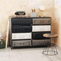 Cabinet indus valises 8 tiroirs en métal Koffer