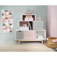Cabinet vintage blanc et rose Blush