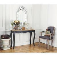 Cabriolet-Sessel aus Leinen, taupe Versailles