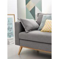 Canapé-lit 3 places gris clair Duke