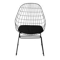 Chaise en métal noire Orsay