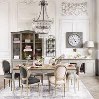 Chaise médaillon en lin lavé rose poudré Louis