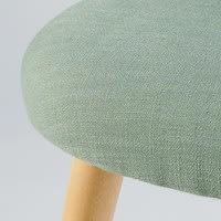 Chaise vintage vert clair et bouleau massif Mauricette