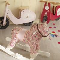 Cheval àbascule rose H 70 cm Pony